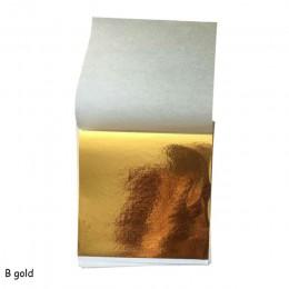 100 Uds. 9x9cm arte artesanía imitación oro plata cobre papeles de Aluminio hojas doradas decoración para manualidades diseño pa