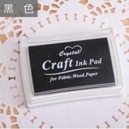 15 colores Inkpad artesanía de bricolaje hecha a mano almohadilla de tinta a base de aceite sellos de goma tela madera papel rec