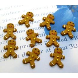 20 piezas muñeco de nieve de resina de Navidad galletas artesanías decoraciones tipo cabujón para libro de recortes ajuste pinza