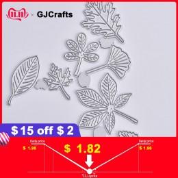 Ramas de hojas de acero GJCrafts troqueles de corte de Metal nuevo 2019 artesanía troqueles Plantilla de colección de recortes T