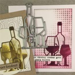GJCrafts botella de vino troqueles de corte de Metal nuevo 2019 para artesanía troqueles Scrapbooking para hacer tarjetas álbum