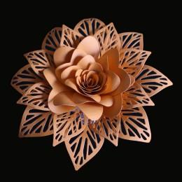 3D flores hojas esténcil Metal corte troqueles Scrapbooking artesanía troqueles sellos y troqueles Stitch Arrivage Snijmal En re