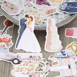 28 Uds tema de la boda impermeable para la etiqueta del coche del teléfono pegatinas decorativas de papelería álbum diario pegat