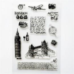 1pc transparente sello de silicona bricolaje retro sellos de alfabeto inglés de material claro sellos suministros de oficina