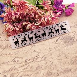 Panfelú flores alce Fondo repujado carpetas de plástico para Scrapbooking DIY plantilla Fondant pastel tarjeta para álbum de fot