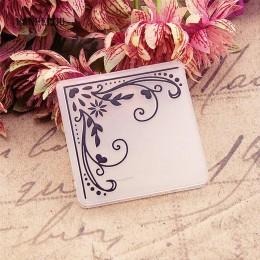 Panfelú flores enredadera ángulo en relieve carpetas de plástico para Scrapbooking DIY plantilla Fondant Cake tarjeta para álbum