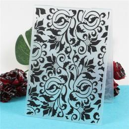 Corazón hojas de plástico en relieve Carpeta para Scrapbooking papel tarjeta hacer DIY artesanía álbum decoración de colección d