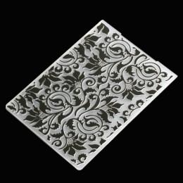 Corazón flor encaje hojas de plástico en relieve Carpeta para álbum de recortes decoración DIY papel cumpleaños tarjeta hacer