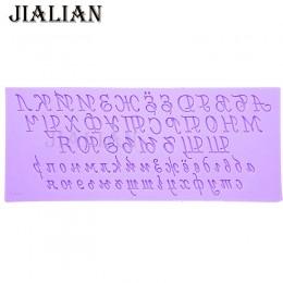 Alfabeto ruso letra silicona Fondant molde para tarta DIY herramientas de decoración arcilla resina azúcar dulces Fimo Sculpey T
