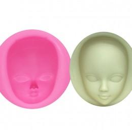M929 DIY chica cara molde de silicona moldes Fondant herramientas de decoración de pasteles máscara para mujer Gumpaste molde po