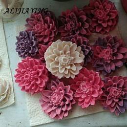 3D crisantemo jabón molde resina arcilla Chocolate caramelo silicona molde flor utensilios para decoración de tortas con fondant