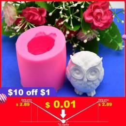 3D búho Animal jabón de silicona molde resina arcilla vela moldes utensilios para decoración de tortas con fondant Chocolate car