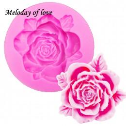Rosas flores chocolate pastel de boda herramientas de decoración DIY fondant silicona arcilla del molde resina azúcar dulces Fim