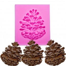 Piñones en forma de 3D fondant cake molde de silicona para moldes de arcilla polímeros chocolate pastelería dulces herramientas