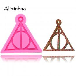 DY0085 brillante Harry Potter logo llaveros molde colgante arcilla polimérica DIY joyería Fabricación de purpurina epoxi silicon