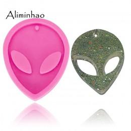 DY0070 brillante Alien llaveros molde silicona molde para llavero colgante arcilla polimérica DIY joyería Fabricación de molde d