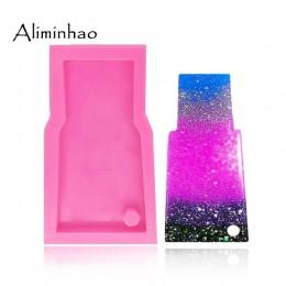 DY0053 DIY forma de cristal de agua brillante molde de vaso de silicona para llaveros moldes perforados molde de resina epoxi de