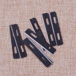 LETAOSK nuevo negro 10 Uds cuchillas de repuesto de acero inoxidable para Skiver Safety Strander fabricante de encajes herramien