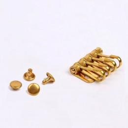 1 x metal de latón macizo llave gancho a presión llavero titular de la fila de llaves enganche con remache organizador de llaver