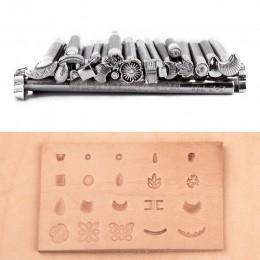 2019 nuevo aumento kit de herramientas de sello de cuero, juego de estampación de sillín de trabajo de artesanía de cuero patron