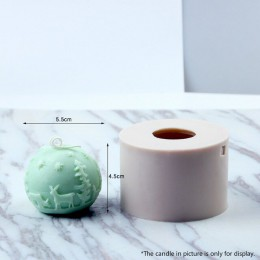 Molde de vela de alivio de Navidad DIY suministros de fabricación de velas moldes de silicona molde de vela de aromaterapia Navi