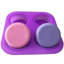 Cuatro círculos redondos moldes de silicona para pasteles herramientas de decoración de pasteles chocolate y goma comestible Mag