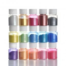 15 colores para la fabricación de jabón/tintes de jabón/Arte de uñas/sombra de ojos DIY Mica pigmento en polvo Kit de suministro