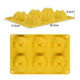 Silikove molde de silicona molde de abeja molde de 6 cavidades fácil de degradar jabón hecho a mano artesanal para el fabricante