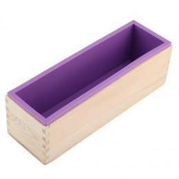 1200g de silicona jabón molde caja Rectangular de madera con Flexible forro para DIY hecho a mano molde para el pan molde de jab