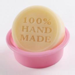 Alta calidad 100% hecho a mano redondo DIY molde de silicona molde de jabón molde utensilios para decoración de tortas con fonda