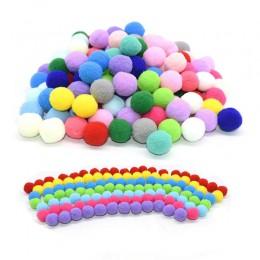 100 Uds 15/20/25mm esponjoso suave pompón bolas hecho a mano niños Juguetes Decoración de la boda manualidades pompones Bola de