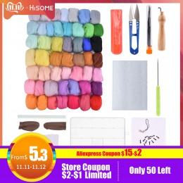 aguja para fieltro fieltro para manualidades 36 colores fieltro de lana Roving fieltro de lana Kit Material de fibra con fieltro