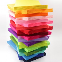 2mm de espesor 20X30cm tejido de fieltro poliéster flores no tejidas tela Garland Multi Color para manualidades de costura hágal