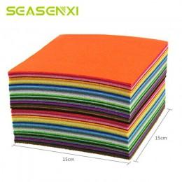 40 Uds. De tela no tejida DIY juguetes de regalo colorido Manual de fieltro tela poliéster mantel cuadrado artesanías de mano pa