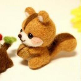 Hecho a mano mascotas juguete muñeca lana fieltro aguja punteado Kitting DIY lindo Animal perro Panda conejo lana fieltro paquet