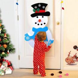 1 Juego de telas no tejidas de dibujos animados encantadoras fieltro muñeco de nieve DIY artesanía artesanal divertida para ador
