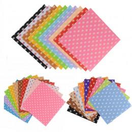 Paño de poliéster fieltro DIY artesanía 15x15cm patrón Paquete de costura muñecas artesanías decoración del hogar tela no tejida