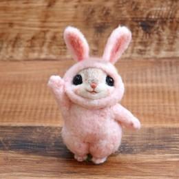 2019 mascotas lindas creativas populares ratón conejo y ardilla lana fieltro muñeca lana fieltro punteado Kitting DIY paquete no