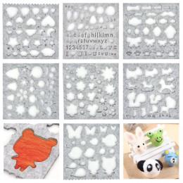 Fieltro de lana molde aguja DIY artesanía Stencil Applique molde accesorios corazones de fieltro de costura fieltro Starter Ki