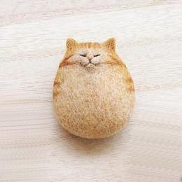 Accesorios para manualidades no terminados aguja hecha a mano Kit de fieltro de lana paquete de Material gato gatito Animal