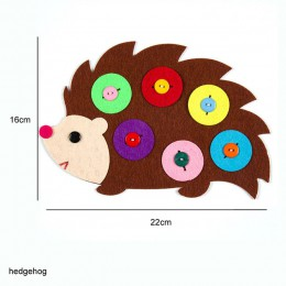 Material textil para manualidades Paquete 1 Set juguete chico bosque Animal tema hecho a mano fieltro corte fieltro Material no