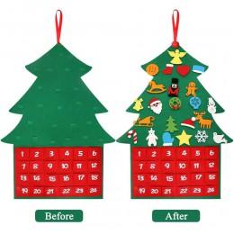 DIY fieltro regalos de navidad muñeco de nieve Navidad pegatina colgante de pared niños juguetes de Navidad decoración Año Nuevo