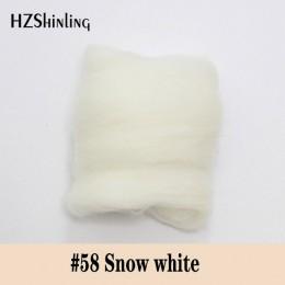 Lana de fibra corta de fieltro súper suave 5 g perfecta en fieltro de aguja y fieltro húmedo Material de lana de Color blanco Ni