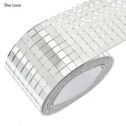 She Love auto-adhesivo de vidrio Mini cuadrado espejos, azulejos de mosaico para DIY hecho a mano decoración del hogar