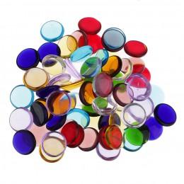 Azulejos de mosaico de vidrio vítreo claro redondo de colores surtidos para manualidades artesanales