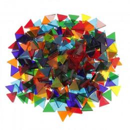 50 g/bolsa de mosaico de cristal cuadrado transparente de Color mezclado para manualidades mosaico que hace que los niños puzle