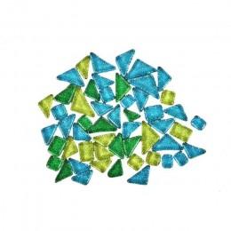 100g mosaico azulejo brillo Irregular arte vidrio mixto Color DIY decoración de arte intelectual de los niños juguete rompecabez