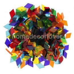 250 piezas de vidrio transparente de colores surtidos, azulejos para hacer mosaicos, Tessera, para rompecabezas, manualidades, a