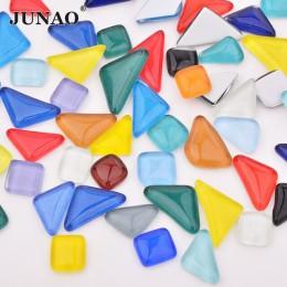 JUNAO mezcla de colores mosaico de vidrio azulejos piedras de mosaico guijarros de vidrio niños puzle arte artesanía Material DI