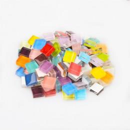 100g (aproximadamente 100 piezas) 1cm azulejos de vidrio cuadrado de varios colores para manualidades proveedor de fabricación d